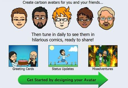 aplicacion de caricaturas para facebook