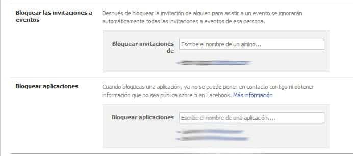 bloquear aplicaciones en facebook